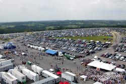 View of the Kentucky Speedway infield