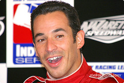 Race winner Helio Castroneves and his ever present smile