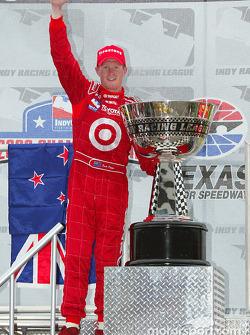 Scott Dixon celebrates championship