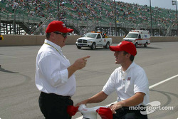Tomas Scheckter and Chip Ganassi