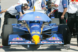 Buddy Rice, driver of the #52 Red Bull Cheever Racing