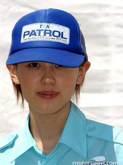 A Twin Ring Motegi security person