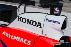 The G-Force Honda of Kosuke Matsuura sits in the pits
