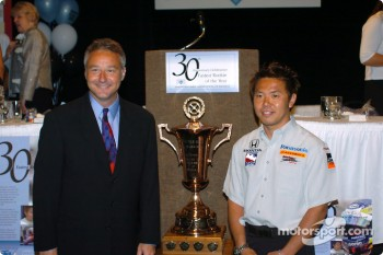 Kosuke Matsuura receives fastest rookie of the year award