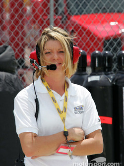 Kansas Speedway security team member