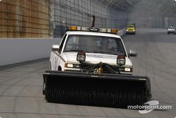 Track sweeper