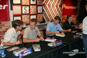 ESPN Zone event: Adrian Fernandez and Ed Carpenter at the autograph session