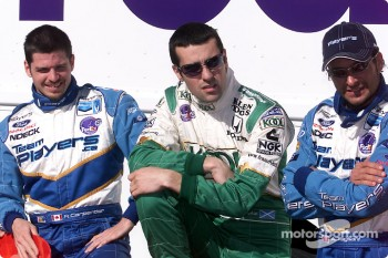 Patrick Carpentier, Dario Franchitti and Alex Tagliani