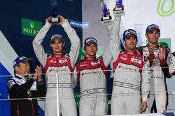 Podium LMP1: second place #8 Audi Sport Team Joest Audi R18: Lucas di Grassi, Loic Duval, Oliver Jarvis
