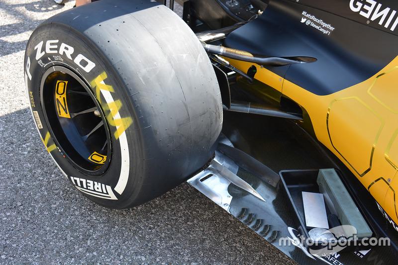 Renault RS16: Unterboden