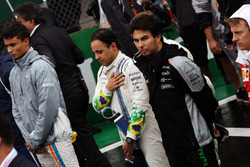 Felipe Massa, Williams as the grid observes the national anthem