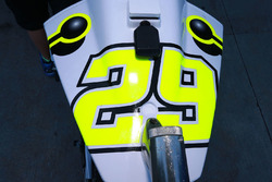Bike detail of Andrea Iannone, Team Suzuki MotoGP
