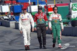 Arriba: Michel Jourdain Jr., Adrian Fernandez and Mario Dominguez