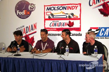 Press conference: Oriol Servia, Tony Kanaan, Christian Fittipaldi and Paul Tracy