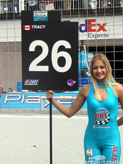Paul's grid girl