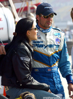 Alex Tagliani with his girlfriend