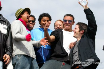 Patrick Carpentier had some fun with some Mexican racing fans during a vist to the Teotihuacan Pyramids just outside Mexico City