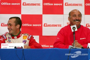 Press conference: Michel Jourdain Jr. and Bobby Rahal