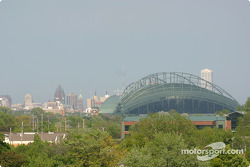 A view of Milwaukee from the grandstands