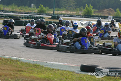 Rocketsports-Tagliani karting event: start of the Rocketsports team race