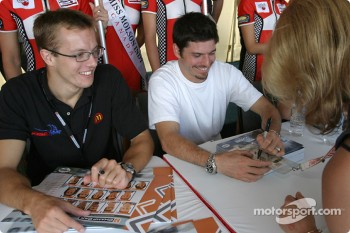 Autograph session: Sbastien Bourdais and Patrick Carpentier