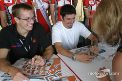 Autograph session: Sébastien Bourdais and Patrick Carpentier