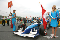 Paul Tracy's grid and flag girls