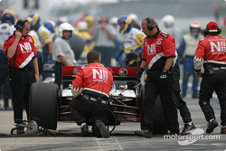 PKV Racing crew members work on Roberto Gonzalez' car