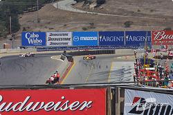Sébastien Bourdais pulls onto pitlane on lap 3