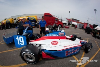 Car of Sbastien Bourdais, Dale Coyne Racing at technical inspection