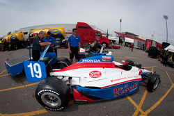 Car of Sébastien Bourdais, Dale Coyne Racing at technical inspection