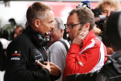 Martin Whitmarsh, Team McLaren and Stefano Domenicali, Scuderia Ferrari Sporting Director talking during FP2