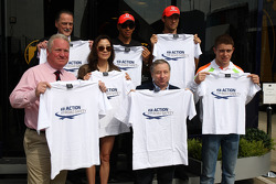 Michelle Yeoh, ex. James Bond girl, actor, Girlfriend of Jean Todt, Jean Todt, FIA president, Lewis Hamilton, McLaren Mercedes, Jenson Button, McLaren Mercedes, Paul di Resta, Force India F1 Team