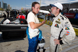 Driver coaches Lee Bentham and Louis-Philippe Dumoulin