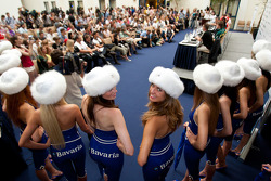 Bavaria girls at press conference