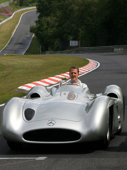 Michael Schumacher, Mercedes GP drives the 1956 Mercedes W196s