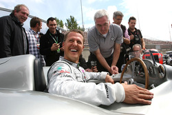 Michael Schumacher, Mercedes GP drives the Mercedes 1955 W196s