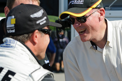 Rob Dyson congratulates Klaus Graf