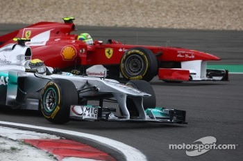 Nico Rosberg, Mercedes GP and Felipe Massa, Scuderia Ferrari