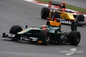 Jules Bianchi leads Romain Grosjean