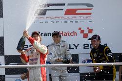 Podium from left: Mirko Bortolotti, Ramon Pineiro and Jack Clarke
