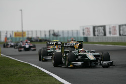 Jules Bianchi leads Esteban Gutierrez