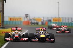 Lewis Hamilton, McLaren Mercedes and Sebastian Vettel, Red Bull Racing