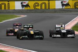 Jarno Trulli, Team Lotus and Pastor Maldonado, AT&T Williams