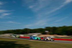 #17 Team Falken Tire Porsche 911 GT3 RSR: Wolf Henzler, Bryan Sellers, #23 Alex Job Racing Porsche 911 GT3 Cup: Bill Sweedler, Leh Keen