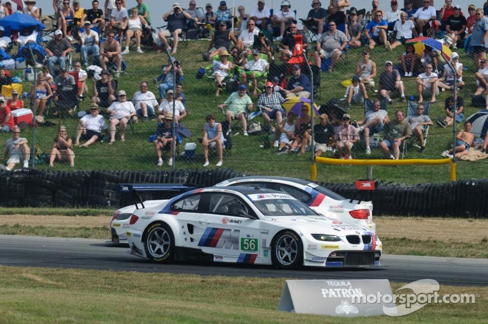 #55 BMW Team RLL BMW M3 GT: Bill Auberlen, Dirk Werner, #56 BMW Team RLL BMW M3 GT: Dirk Müller, Joey Hand