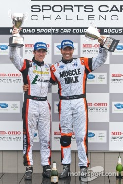 Kyle Marcelli and Tomy Drissi, Mid-Ohio LMPC class winners