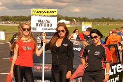 AmD Grid Girl to Martin Byford