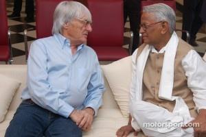 Bernie Ecclestone visits Buddh International Circuit