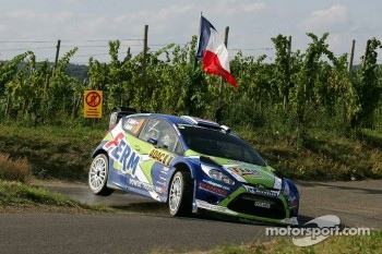 Dennis Kuipers and Frederic Miclotte, Ford Fiesta RS WRC, FERM Rally Team